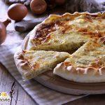 Quiche alle cipolle e formaggio - tagliata