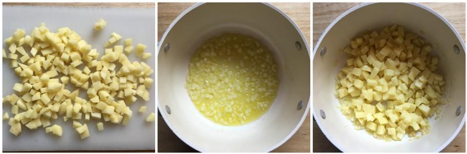Zuppa di patate e piselli - procedimento 1
