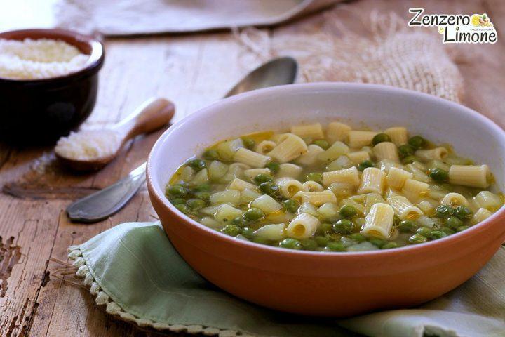zuppa di patate e piselli