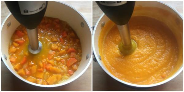 Vellutata zucca e carote - procedimento 4