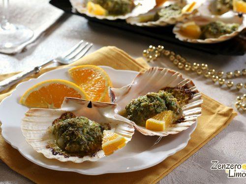 Capesante con arancia e pistacchi