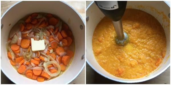 vellutata carote - frullata