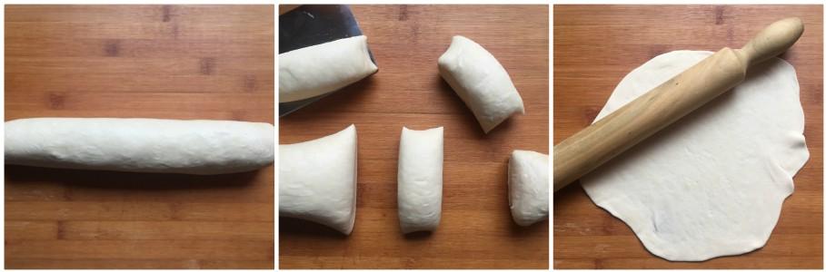 Sfoglie croccanti cotte in padella - procedimento 2