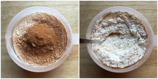 torta di mele senza mele - ingredienti secchi