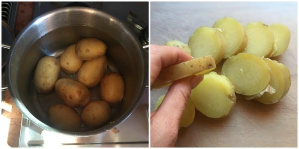 Patate al forno con brie - procedimento 1