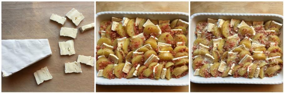 Patate al forno con brie - procedimento 3
