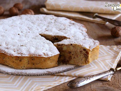 Torta di mele e noci – ricetta senza burro né olio