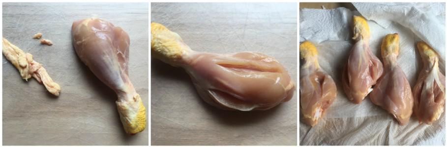Cosce  di pollo impanate - procedimento 1