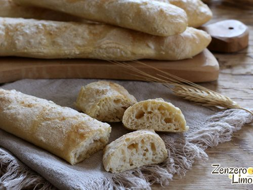 Filoncini di pane senza impasto
