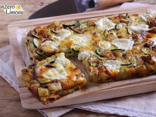 Frittata di zucchine e patate al forno