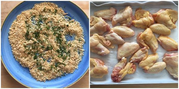 Ali di pollo impanate - procedimento 2