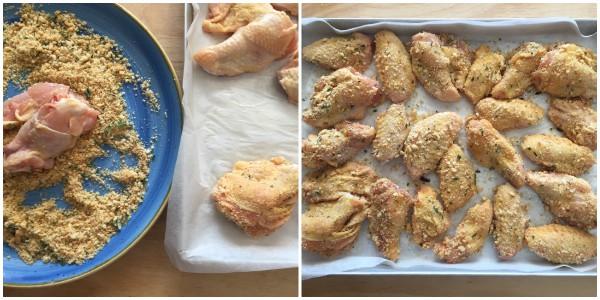 Ali di pollo impanate - procedimento 3