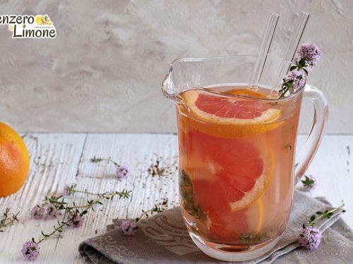 Bevanda al pompelmo e timo