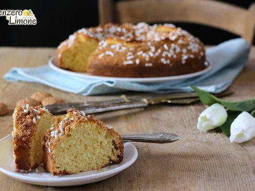 Ciambella al cocco e amaretti – ricetta senza burro