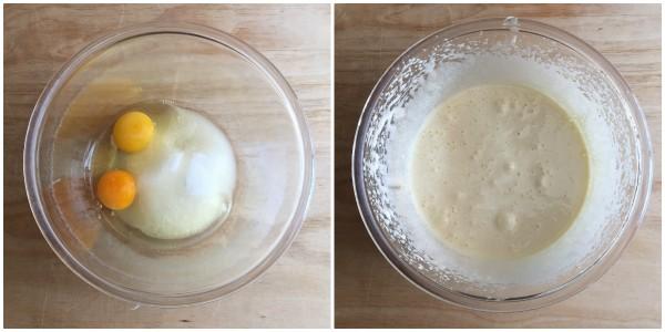 Ciambella al latte di cocco - procedimento 1