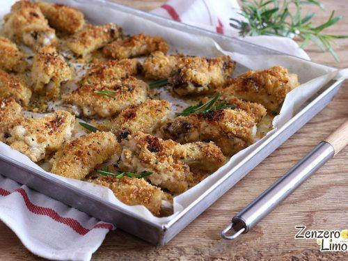 Ali di pollo impanate al forno