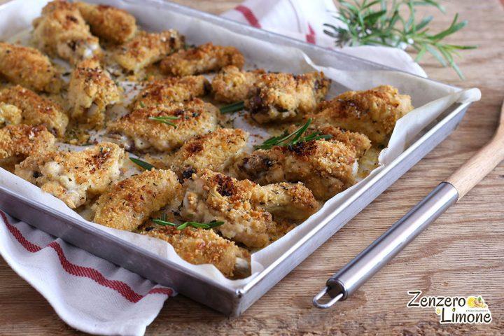 ali di pollo impanate