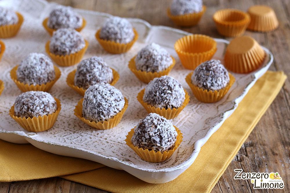 Bonbons al cioccolato e cocco - dettaglio
