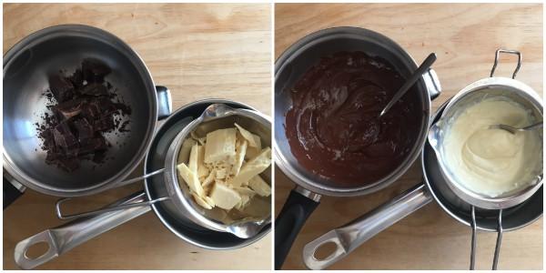 Cheesecake ai due cioccolati - procedomento 3