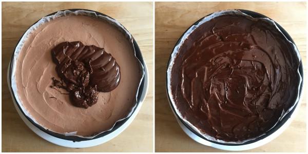 Cheesecake ai due cioccolati - procedomento 9
