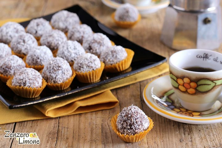 Chocolate and coconut truffles - direction 4