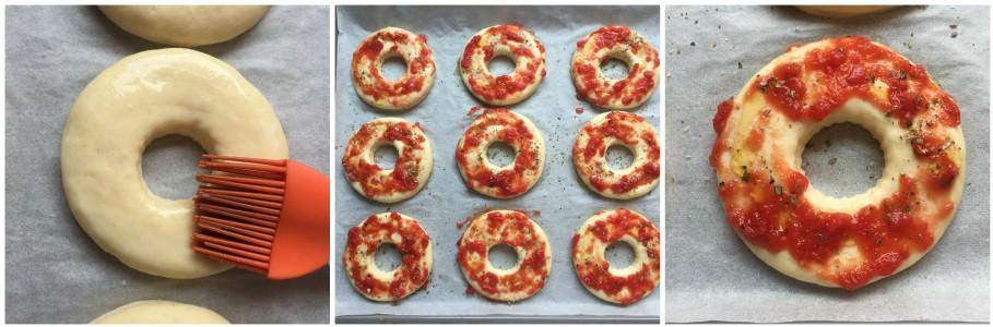 Ciambelle di pizza - procedimento  6