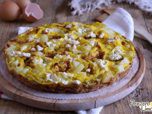Frittata di patate, prosciutto e formaggio