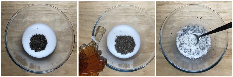 Chia pudding  ai mirtilli - procedimento 1