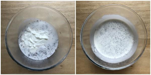 Chia pudding ai mirtilli - procedimento 2
