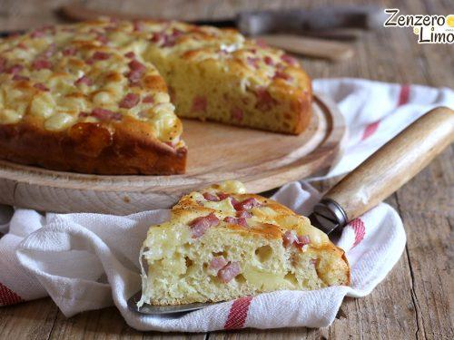 Torta soffice al prosciutto e formaggio