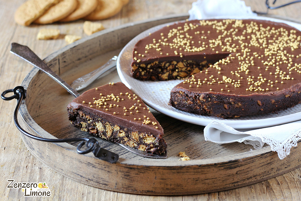 Ricetta Torta Salame Al Cioccolato.Torta Salame Di Cioccolato Ricetta Golosissima Zenzero E Limone