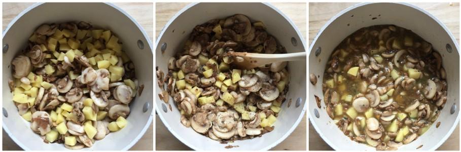 Zuppa di ceci e funghi - procedimento 3