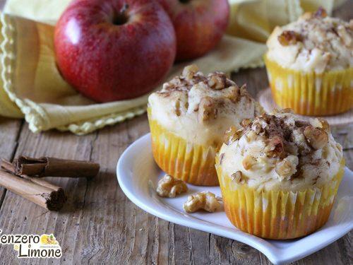 Muffin alla ricotta e mele