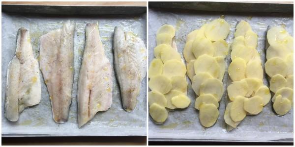Branzino in crosta di patate - procedimento 2