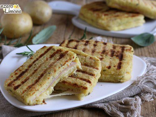 Toast di patate farciti