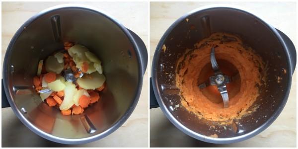 gnocchi di carote - procedimento 2