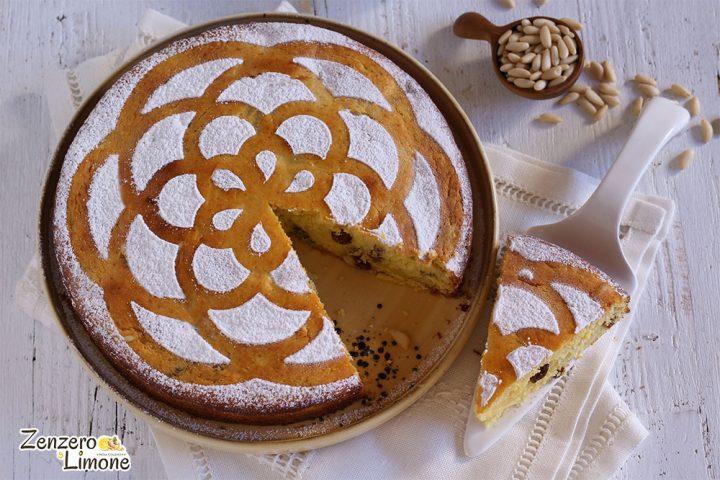 torta ricotta e pinoli - tagliata