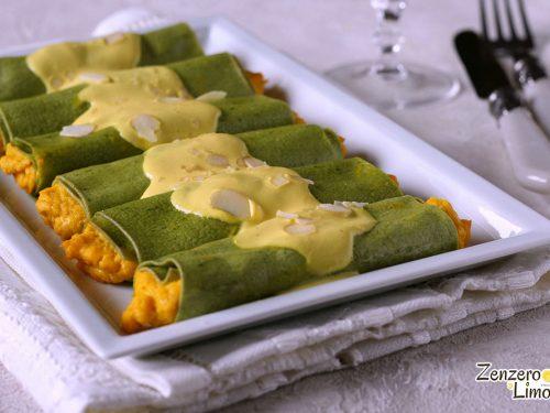 Cannelloni verdi alla zucca e robiola