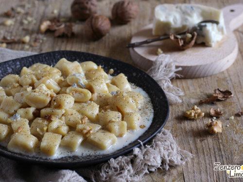 Gnocchetti di ricotta con gorgonzola e noci