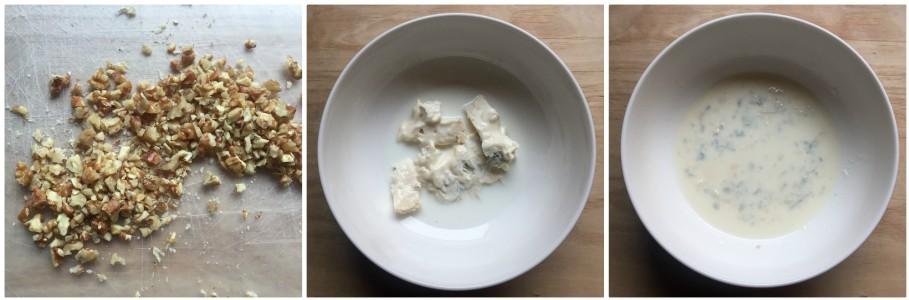Gnocchetti di ricotta con gorgonzola e noci - condimento