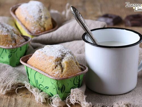 Mini plumcake allo yogurt e cioccolato