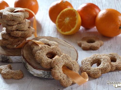 Biscotti integrali all'arancia
