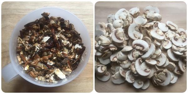 funghi secchi e champignon