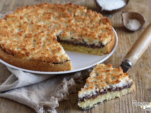 Crostata nutella e cocco