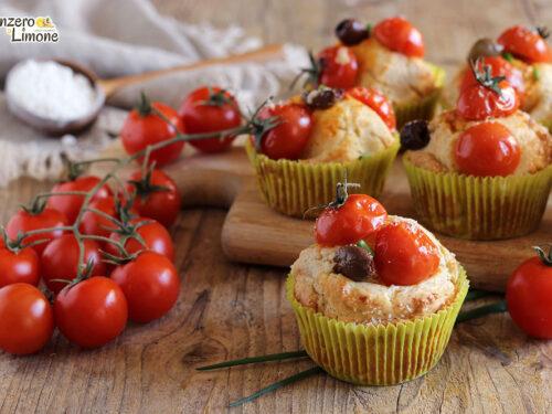 Muffin ai pomodorini e formaggio