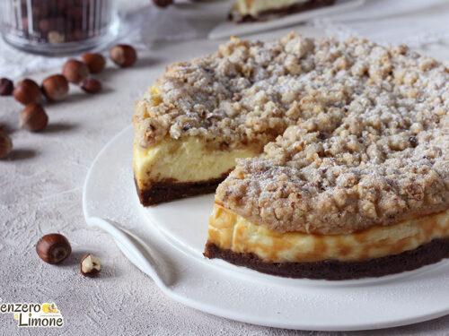 Crumble cheesecake