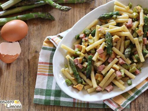 Pasta con asparagi e frittata