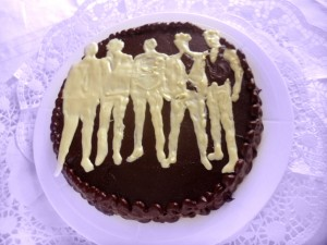 torta al cioccolato ONE DIRECTION
