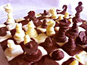 scacchiera di cioccolato