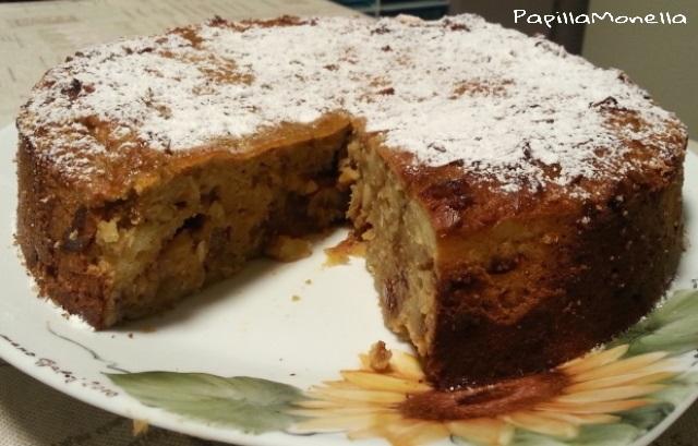 Torta rustica di pane, fichi e zucchero integrale